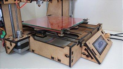Impressora 3D Graber I3 TEK3D em MDF 6mm - ATENÇÃO!  PRODUTO COM FAIXA DE ENTREGA RESTRITA! CONSULTE!