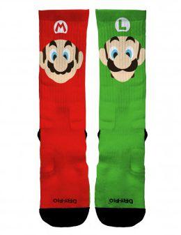 Meia Elite Mario e Luigi - Cano Médio