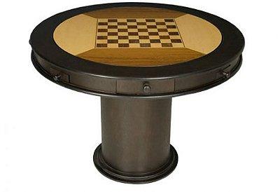 Mesa de carteado redonda / xadrez