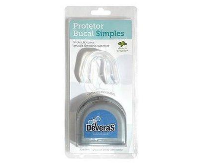 Protetor Bucal Simples Estojo Transparente Único Moldável