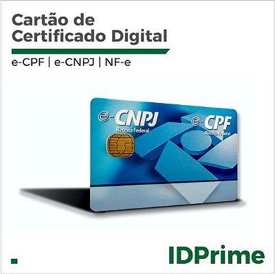 Cartão Smart Card Gemalto - Certificado digital e-CPF e-CNPJ NF-e