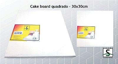 Cake Board / Sousplat Quadrado Branco
