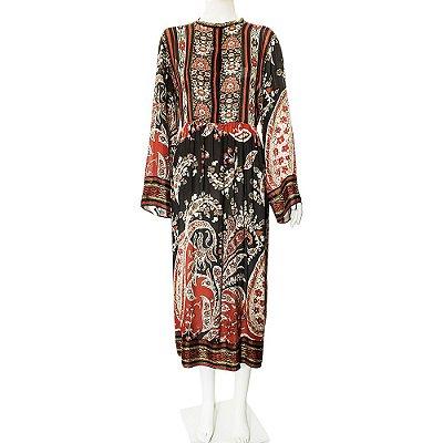 ISABEL MARANT | Vestido Isabel Marant Viscose Estampada Vermelha