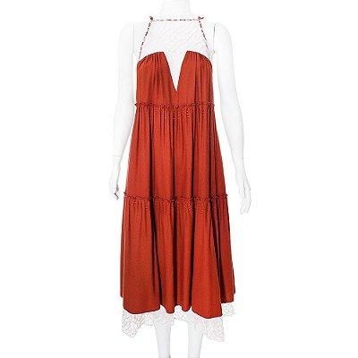 RAIA DE GOEYE | Vestido Raia de Goeye Algodao Telha