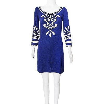 TEMPERLEY | Vestido La Azul e Off White