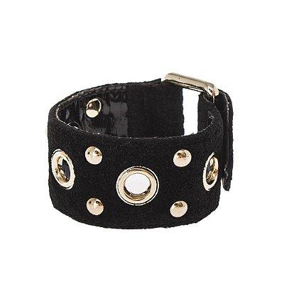 STELLA MCCARTNEY   Bracelete Stella McCartney Veludo Preta