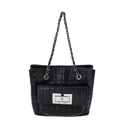 CHANEL | Bolsa Chanel Couro Preta
