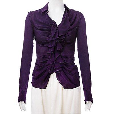 GIVENCHY | Camisa Givenchy Seda Roxa