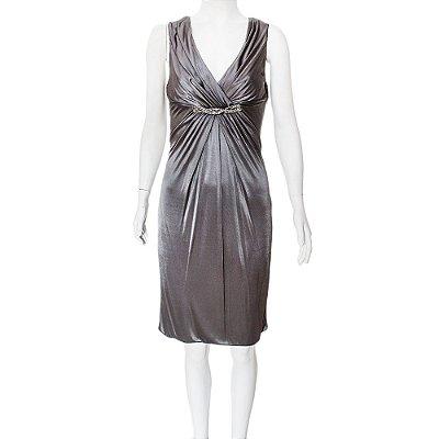 VERSACE | Vestido Versace Viscose Cinza