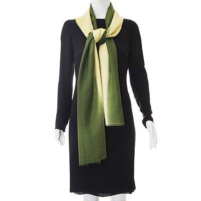 BAJRA | Pashmina Cashmere Degrade Amarelo e Verde