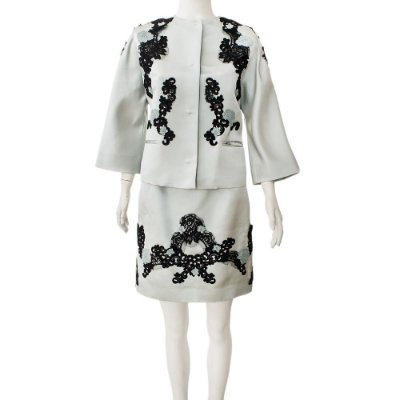 DOLCE & GABBANA | Tailleur Dolce & Gabbana Seda Bordada Azu