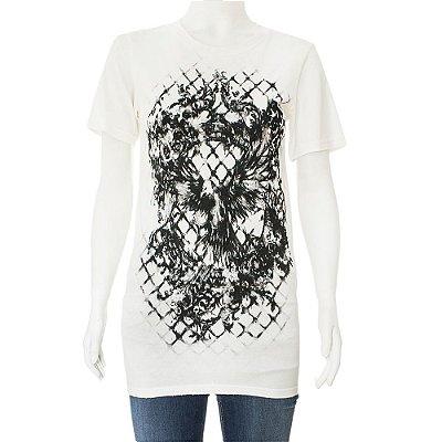 BALMAIN| Camiseta Balmain T-Shirt Algodão Branca e Cinza
