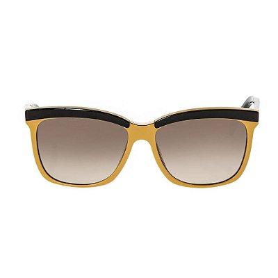 FENDI | Óculos Listras Fendi Preto e Amarelo Acrílico
