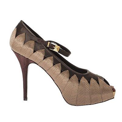 LOUIS VUITTON | Sapato Folhas Louis Vuitton Seda Avelã