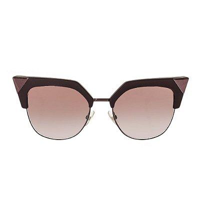 FENDI   Óculos Com Ponteira Fendi Metal Beterraba