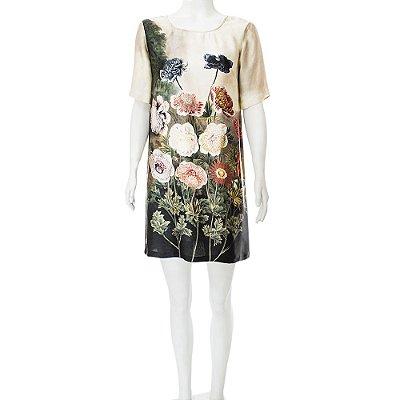 STELLA MCCARTNEY   Vestido Camiseta Stella McCartney Seda Estampado