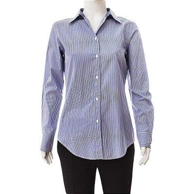 GAP | Camisa GAP Algodão Listrada Azul Marinho e Branco