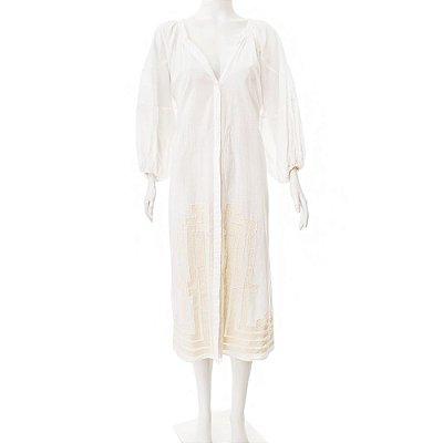 WAIWAI | Vestido Camisola Waiwai Algodão Branco