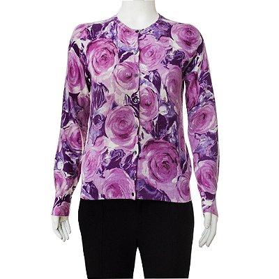 NEIMAN MARCUS | Cardigan Neiman Marcus Cashemere Floral