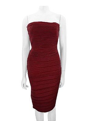LANVIN   Vestido Plissado Lanvin Tecido Vermelho