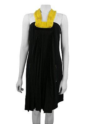LANVIN | Vestido Plissado Lanvin Preto