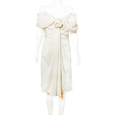 CHRISTIAN DIOR | Vestido Christian Dior Seda Off White