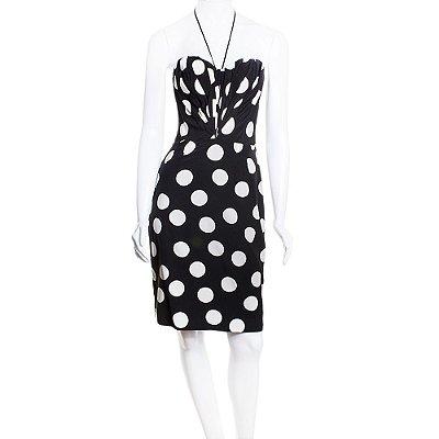 DOLCE & GABBANA | Vestido Dolce & Gabbana Seda Preto e Branco