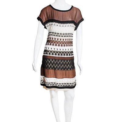 MISSONI | Vestido Missoni Viscose e Seda Marrom