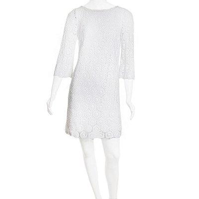 DOLCE & GABBANA | Vestido Dolce & Gabbana Algodao Guipir Branco