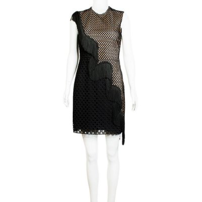 STELLA MCCARTNEY | Vestido Stella McCartney Viscose e Franjas Preto