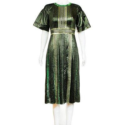 BURBERRY | Vestido Burberry Metalizado Verde