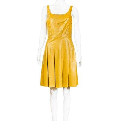 OSCAR DE LA RENTA | Vestido Oscar de la Renta Couro Amarelo