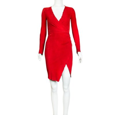 BALMAIN | Vestido Balmain Chamoix Vermelho