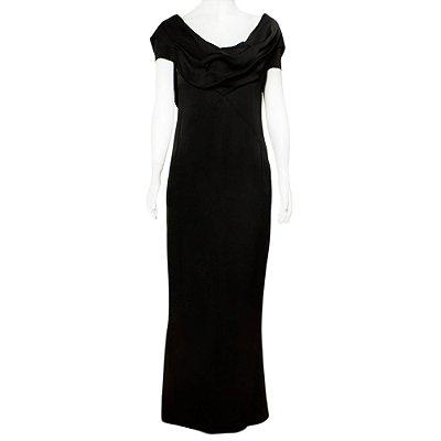 CHANEL |Vestido Chanel Seda Preto