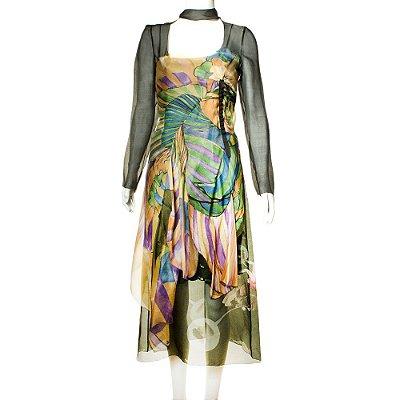 PRADA | Vestido Prada Seda Estampado