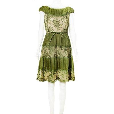 VALENTINO | Vestido Valentino Seda Verde