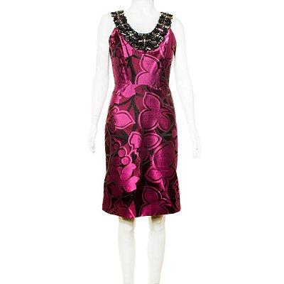 OSCAR DE LA RENTA | Vestido Oscar de la Renta Seda Estampada Rosa