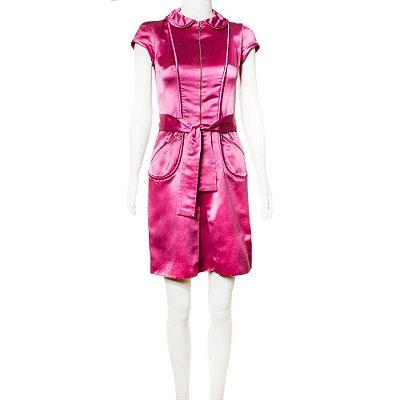 LOUIS VUITTON   Vestido Louis Vuitton Seda Rosa
