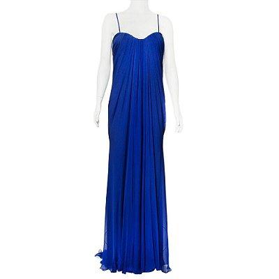 ALEXANDER MCQUEEN | Vestido Alexander McQueen Seda Azul