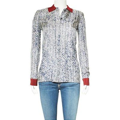 BALENCIAGA | Camisa Balenciaga Seda Azul