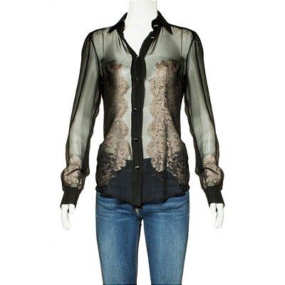 DOLCE & GABBANA | Camisa Dolce & Gabbana Seda Preta