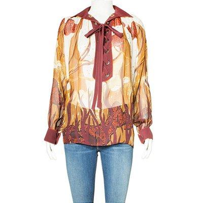 GUCCI | Camisa Gucci Seda Estampada