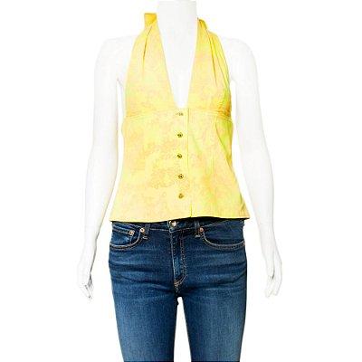 VERSACE | Frente Única Versace Seda Amarelo