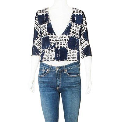 BALENCIAGA | Blusa Balenciaga Seda Azul