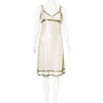 VALENTINO | Vestido Valentino Seda e Paetes Branco