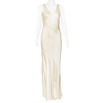 DONNA KARAN | Vestido Donna Karan Acetato Off White