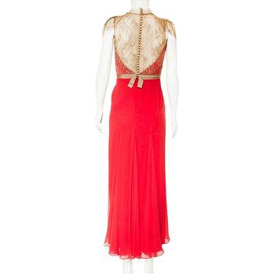 JENNY PACKHAM | Vestido Jenny Packham Seda Vermelho