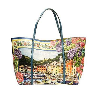 DOLCE & GABBANA | Bolsa Dolce & Gabbana Shopper Bag Couro Azul