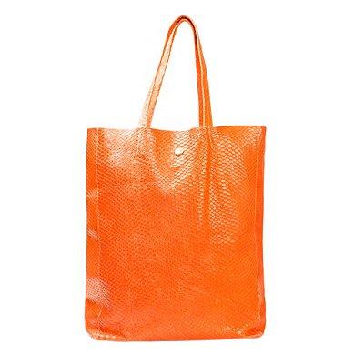 ADRIANA DEGREAS | Bolsa Adriana Degreas Shopper Bag Couro Laranja