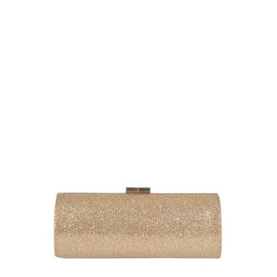 JIMMY CHOO | Clutch Jimmy Choo Purpurina Dourada